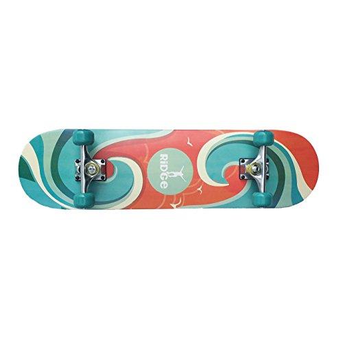 Skateboards Ridge - 32 'x 8' concavo - Completa il skateboard ispirato al surf- Surf Wave