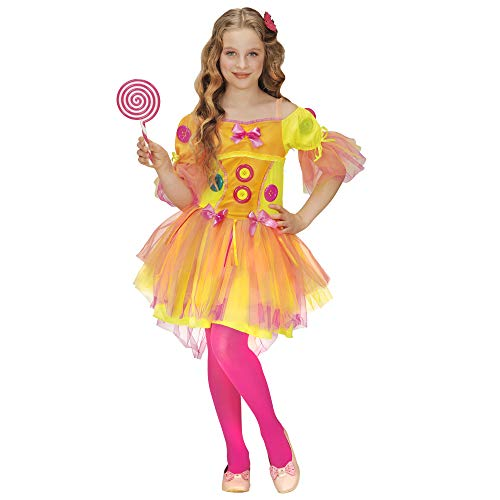 Widmann 49408 ? Enfants Costume Neon Fantasy Girl, Robe, Jaune