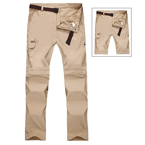 Herren Outdoor Anti-UV UV Schutz Anti Moskito Quick Dry Men Hosen Wanderhose Camping Hose, KhaKi, XL
