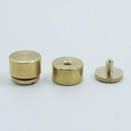 25Stück Messing mit Schraubverschluss Füße Größe 10mm 11mm 12mm Schraube Kopf Handtasche Nagelköpfe Ohrstecker Spike Spot, bronze, 11mmx6mm -