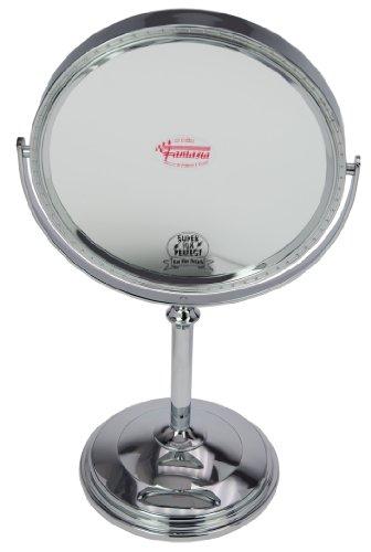 Fantasia 43025 - Miroir sur pied grossissant parfait (x 10) - Argent - Hauteur: 37 cm, ø 20 cm,