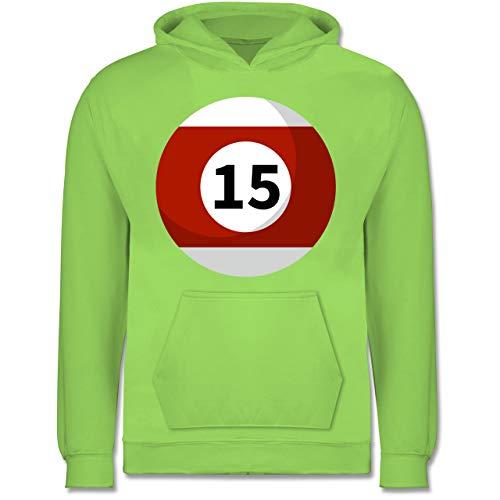 Shirtracer Karneval & Fasching Kinder - Billardkugel 15 Kostüm - 7-8 Jahre (128) - Limonengrün - JH001K - Kinder Hoodie
