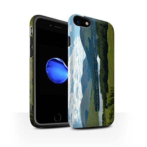 STUFF4 Matte Harten Stoßfest Hülle / Case für Apple iPhone 8 / Gebirge/Loch Muster / Schottisch Landschaft Kollektion Gebirge/Loch