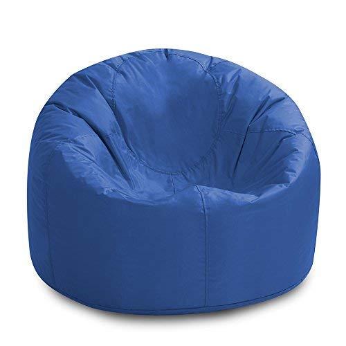Bean Bag Bazaar getäfelteter Sitzsack XL für Innen und Außen, Blau - extra großer wasserdichter...