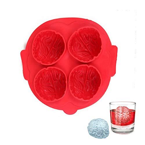 CLDGF Gehirn-Eis-Film, Freund Eis, Silikon, Halloween, Party Geschenk, Gehirn Eis Box Schimmel, (Red) (Mit Freund Halloween-filme)