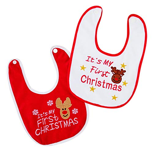 Premier My 1st Christmas Bib Red White - PL185146