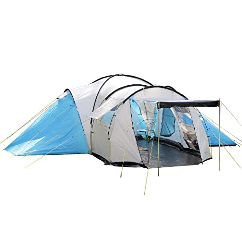 skandika Toronto Large 8-Person Family Camping Tent with 3 Sleeping
