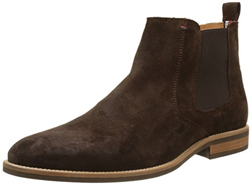 Tommy Hilfiger Herren Essential Suede Chelsea Boot, Braun (Coffee Bean), 44 EU (10 UK)