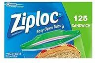 Ziploc Sandwich Bags - 125 ct…