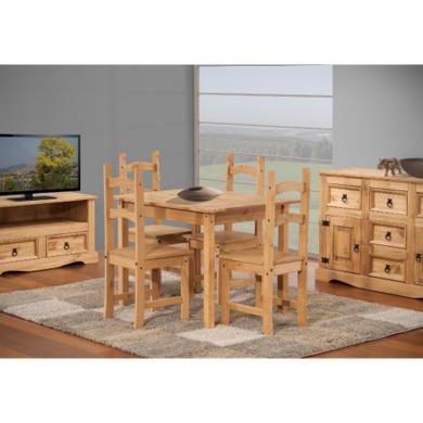 Corona Solid Pine Medium Dining Table