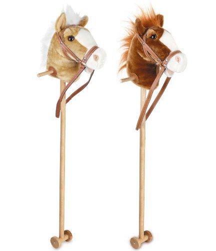 Carousel Toyrific 100cm Kids Neighing amp; Galloping Hobby Stick Horse Toy with Sound Wheels (Assorted Colours) EAN: 5031470054496