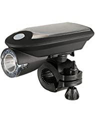 Docooler USB Recargable Luz de la Cabeza de la Bicicleta Luz de Bicicleta Accionada por Energía Solar Luz Delantera de Ciclo Giratoria de 360 Grados