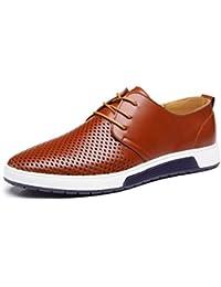Chaussure de Cuir Homme, Oxford Derby Lacets Dressing Casual Business Mariage Respirant Noir Marron Bleu 38-48