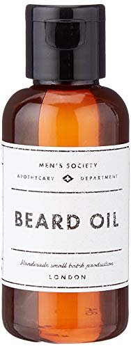 Men's Society M11283 - Kit para Barba con Purpurina, Color Plateado