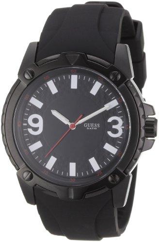 Guess Verve Black Rubber Strap Gents Watch W10251G1