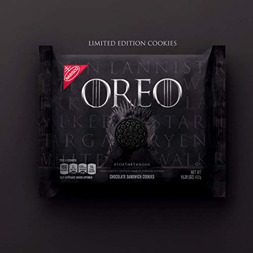 Oreo Game of Thrones Chocolate Cookies - 15.25oz 432g Limited Edition