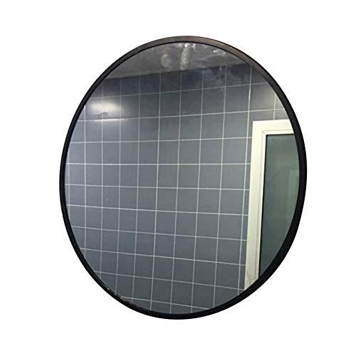 Badezimmer an der Wand montiert Runder Spiegel- Metallic gerahmt Großer Kosmetikspiegel Rasierspiegel Vergrößerungsspiegel Dusch-Schminkspiegel- Schlafzimmer Living Flur (Große Spiegel Gerahmte Wand)