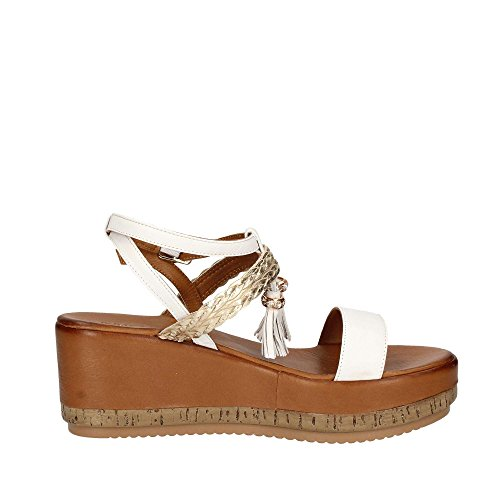 INUOVO 7388 Chaussures Compensées Femme Blanc