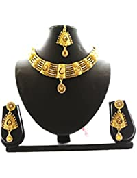 Fashion Jewellery Gold Plated Combo Of Two Traditional Necklace Set For Women Party Wear And Wedding Wear Jewellery... - B07CM9N5WY