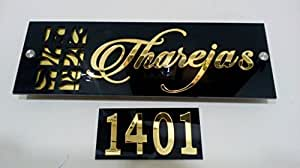 Karigaari Customized Laser Cut Home Door Acrylic Name Plate 20 Cm X 20 Cm X 20 Cm Npacr3