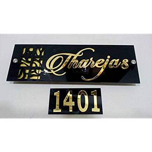 Karigaari Customized Laser Cut Home Door Acrylic Name Plate (20 cm x 20 cm x 20 cm NPACR3)  sc 1 st  Amazon.in & Door Name Plates: Buy Door Name Plates Online at Best Prices in ...