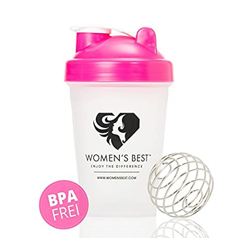 SHAKER with high-quality stainless steel spring ball | Practical protein shaker for perfect preparation of protein powder & shakes with 100% SATISFACTION GUARANTEE BPA-free - 450ml - WOMEN'S BEST