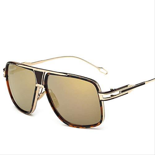 MJDL Sonnenbrille Herren Markendesigner Sonnenbrille Driving 5-Gold-Gold