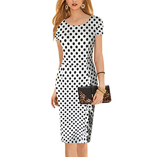 Solide Geraffte Kleid (Paskyee Damen Berühmtheit Elegant Geraffte Prom Bodycon Party Abendkleid schlank Business-Kleid)