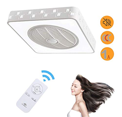 HKTS Luz De Techo LED Regulable con Función De Ventilador Control Remoto...