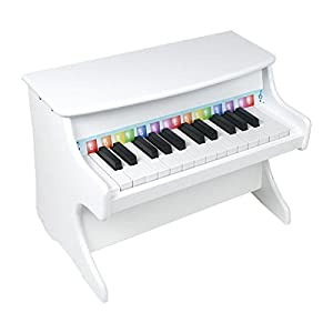 Small Foot Company 2473  - Piano de juguete color blanco Importado de Alemania
