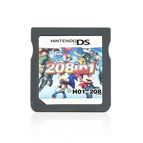 Gugutogo NDS 208 in 1 Multispiele Video-Konsole Set Patrone Mini Speicherkarte für Nintendo Elektronik von Consumogris (Super Nintendo Spiel-patronen)