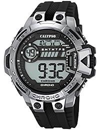 Calypso Hombre Reloj digital con pantalla LCD Pantalla Digital Dial y correa de plástico en color negro k5696/8
