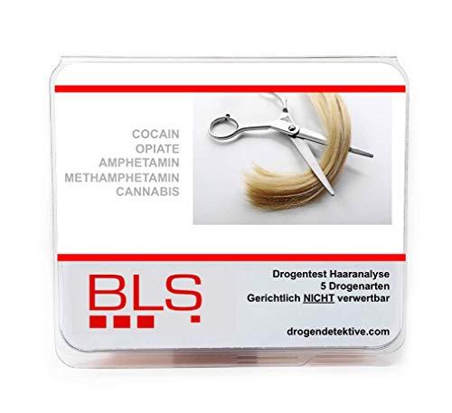 Drogentest Haaranalyse - 5 Drogenarten AMP, METAMP, COC, OPI & CAN - -