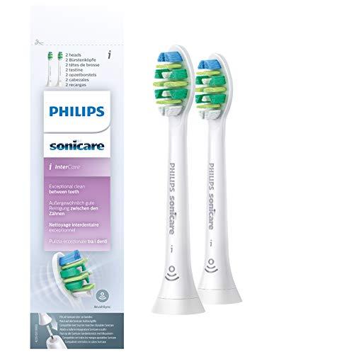 Philips Sonicare Original Aufsteckbürste InterCare HX9002/10, bessere Zahnzwischenraumreinigung, 2 Stück