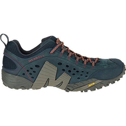 Merrell Mens Intercept Leather Wicking Mesh Walking Trainers Shoes