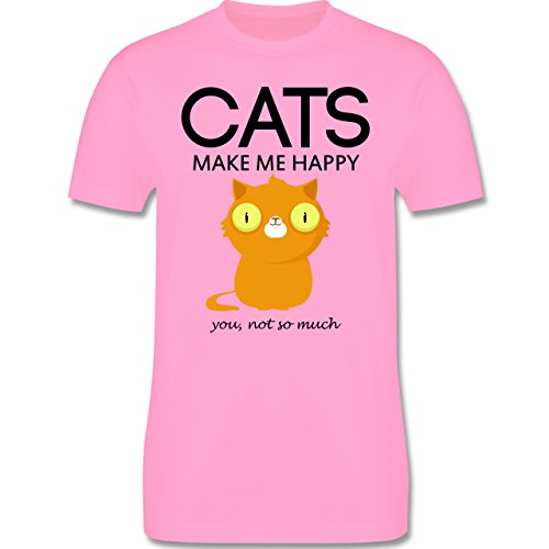 Katzen - Cats make me happy - you not so much - Herren Premium T-Shirt Rosa