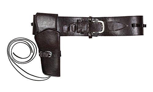 Cowboy Pistolen Halfter mit Gürtel Kostümzubehör Colt Halfter Dunkelbraun Braun