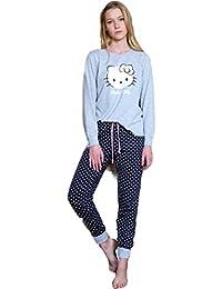 Pijama HELLO KITTY Mujer Color GRIS y MARINO