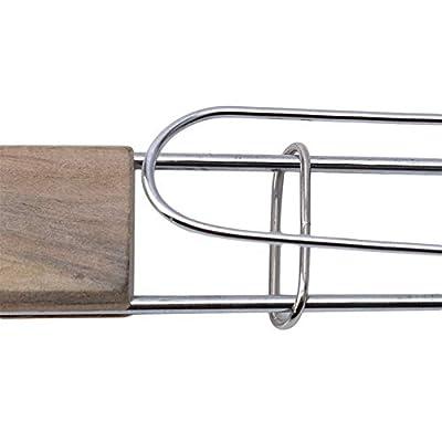 SKRRDCY Edelstahl Antihaft-Mesh Holzgriff Gegrillter Fisch Grill Clip Net Outdoor BBQ Werkzeuge Grills Liefert für Camping Picknick