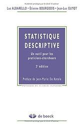 Statistique descriptive : Un outil pour les praticiens-chercheurs