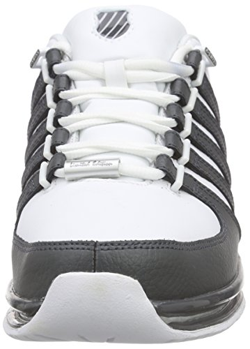 K-Swiss Rinzler SP, Sneakers Basses Homme Blanc - Weiß (White/Dark shadow/Gull Gray)