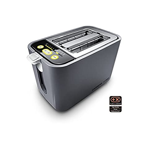 CARRERA 552 Grille-pain avec support viennoiseries intégré | 860 W, tubes chauffants en verre de quartz, élément de commande numérique, 9 réglages fins et compte à rebours optique| 2 tranches