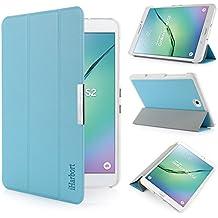 iHarbort® Samsung Galaxy Tab S2 8.0 Funda - ultra delgado ligero Funda de piel de cuerpo entero para Samsung Galaxy Tab S2 8.0 T710 , con la función del sueño / despierta, azul claro