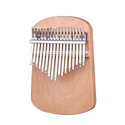 17 SchlüSsel Kalimba Diy Kit Birke/Walnuss/Buche Massivholz Finger Daumen Klavier FüR Handarbeit Malerei Musik Geschenke Tuning Werkzeugtasche,Beech -