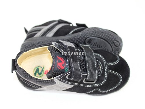 NATURINO Kinderschuhe Jungs Schuhe Halbschuhe Klett Sneaker Shoe 4210 schwarz Schwarz