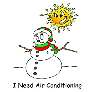 Funny Christmas Comp Book Melting Snowman Needs Air Conditioning 130 Pages: (Notebook, Diary, Blank Book) (Christmas Season Winter Holiday Composition Books Notebooks)
