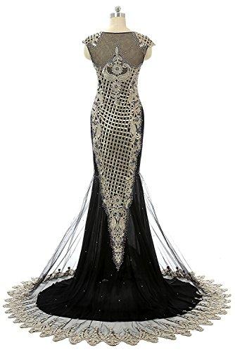 Ikerenwedding - Robe - Taille empire - Femme Small Noir