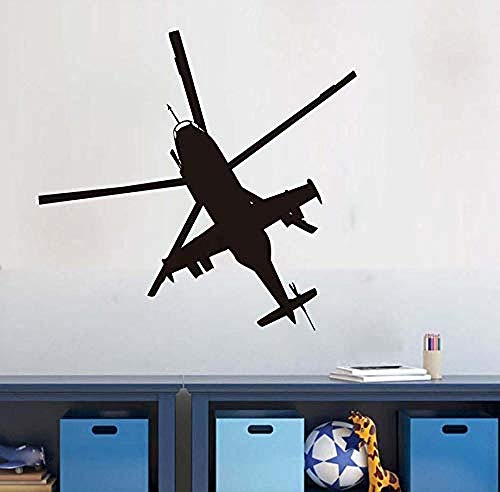 Zuhause Militärhubschrauber Wandaufkleber Steuern Dekor Wohnzimmer Kunst Vinilos Große Größe Decorativos Kinder Schablonen Für Schlafzimmer Wände 62X58Cm