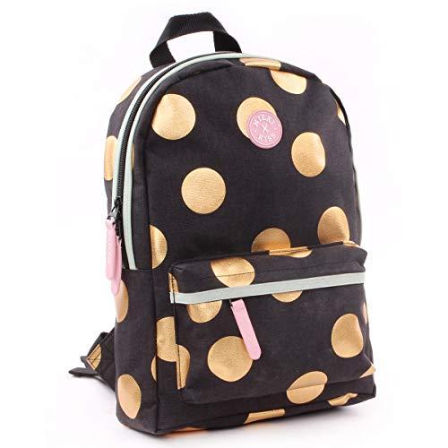 Milky kiss backpack be you medium zainetto per bambini, 33 cm, nero (black)