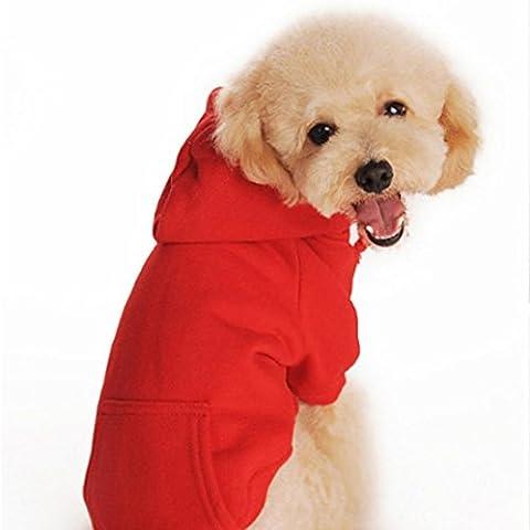 para el suéter de camuflaje para mascotas, RETUROM venta de PET de invierno ropa para perros perrito caliente caliente grueso suéter de la camisa ropa escudo (S,
